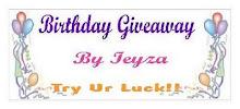 Birthday Giveaway By Ieyza