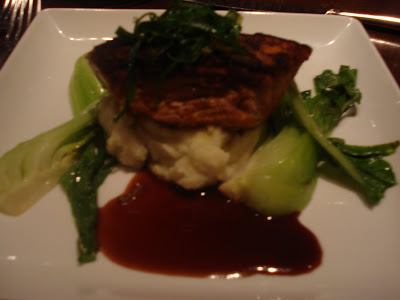 Ahi Tuna with some wasabi mashed potatoes that will make you cry.  In a good way.