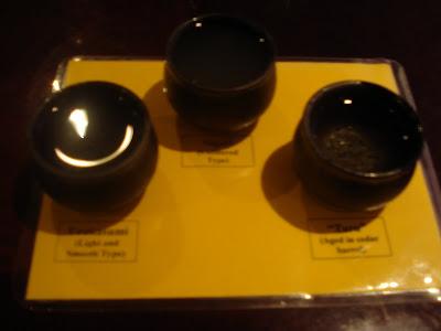 Sake tasting at Kaz Sushi Bistro