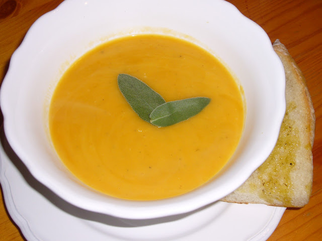 ... sweet and earthy soup is made from butternut squash, apple, and sage