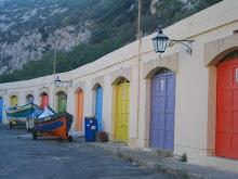 boat houses in Gozo