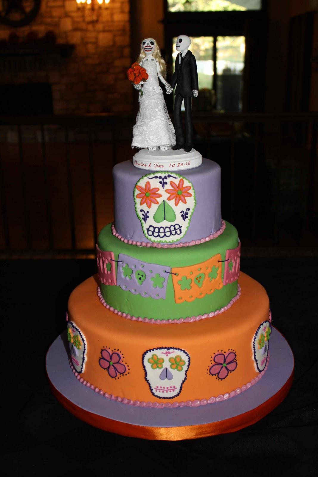 Coco Paloma Desserts: Día de los Muertos Wedding Cake