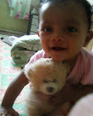 Iman with her baby bear