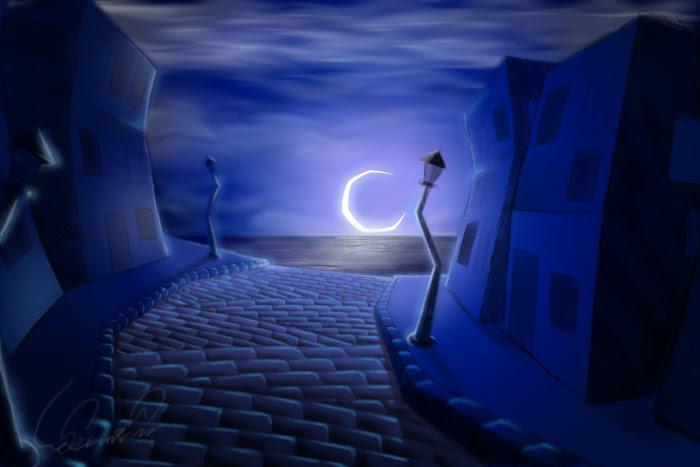 te espero en esta penumbra azul.