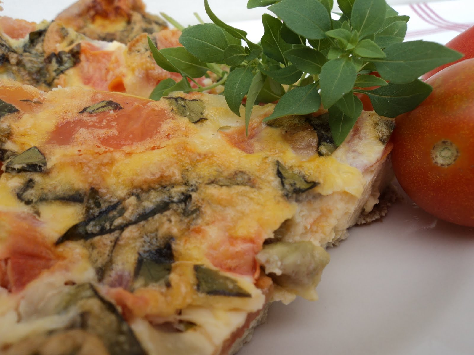 Mariola´s Cooking Therapy: Tomatoes, Mozzarella and Basil Fritatta