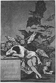Goya etching The Sleep of Reason Produces Monsters