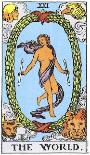 Tarot Deck Major Arcana: XXI The World