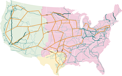 Map of US electrical grid