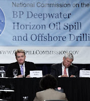 National Commission on the BP Deepwater Horizon Oil Spill and Offshore Drilling co-chairs William K. Reilly and Bob Graham preside over hearing