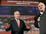 aei: the root of bush's right-wing ideology