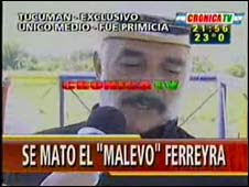 argentine man kills himself on tv