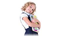 Школьница, девочка, взгляд