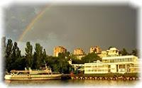 Николаев, пароход, радуга