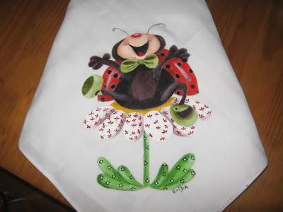 fralda joaninha feliz