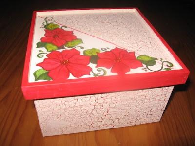 caixa de chá pintada á mão