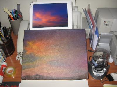 telas, pintura a óleo