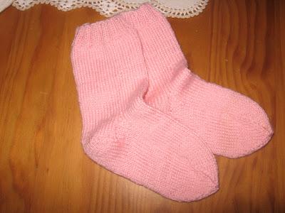 meias de lã com 4 agulhas