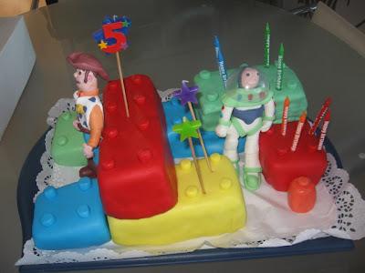 bolo do lego e Toy story