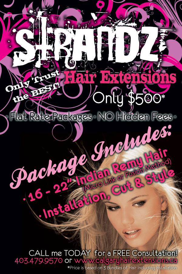 Calgary Hair Extensions ~ Strandz Hair Extensions