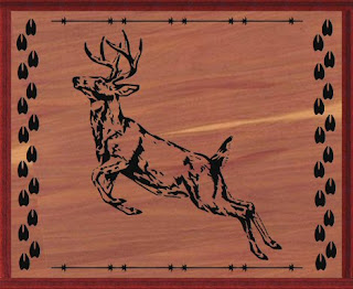 Deer Pattern Saw Scroll
