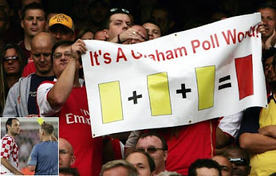 Arsenal supporters heckle Graham Poll