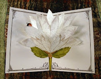 White Lace Blooming Pop Up Card from Crankbunny