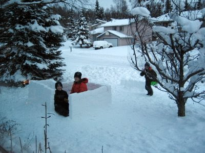 Snow Fort in Anchorage, Alaska