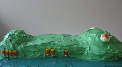 An Alligator Cake