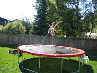 Spencer on Trampoline