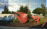 Salmon Sculpture in Anchorage, Alaska