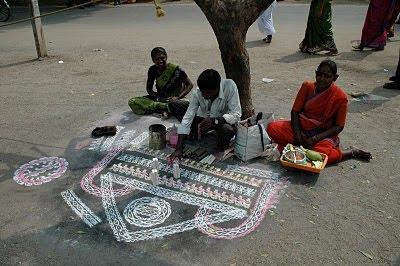 Hindu Sand Art