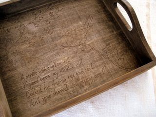 Woodburned Tea Tray