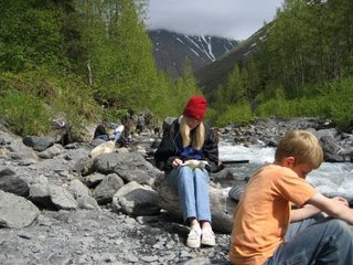 Gold Panning at Crow Creek Mine