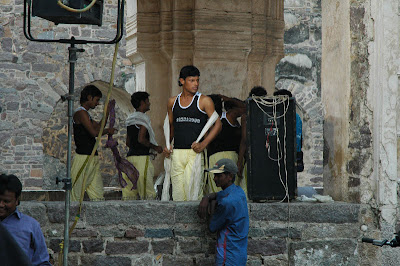 Bollywood Movie on Location in Hyderabad, India