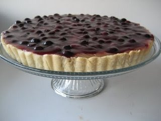 Lemon Tart with Blueberry Topping