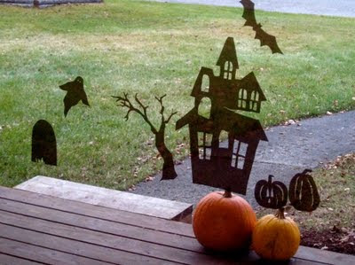 Homemade Halloween Window Clings