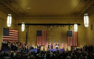 president elect obama at 30th street station in philadelphia