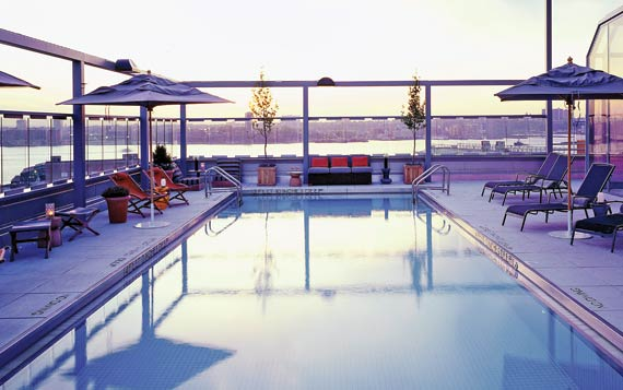 hotel gansevoort rooftop pool manhattan