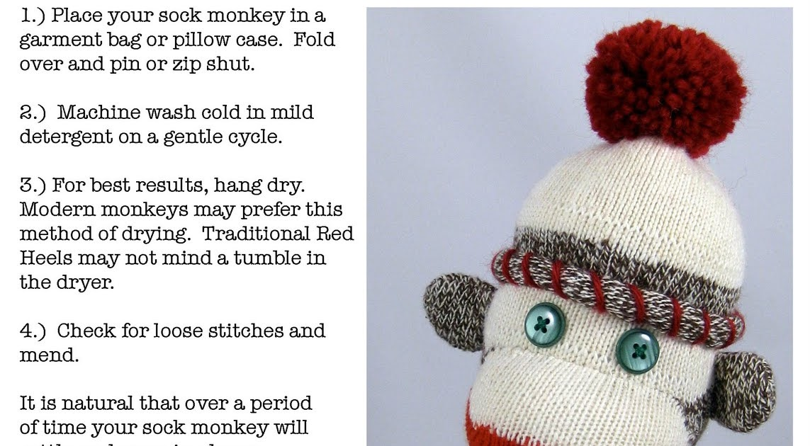Hoffee And A Nuffin Sock Monkey Care Instructions