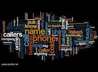 word cloud picture of an article on how cold calling annoys people - Cold response to cold calling - bad PR