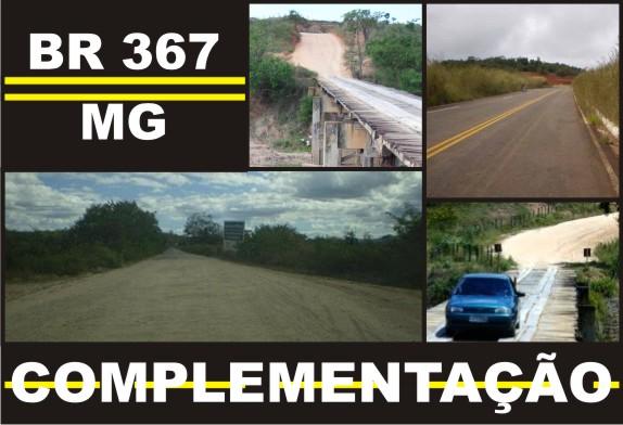 """BR 367/MG - COMPLEMENTAÇÃO """"Vamos Juntos Nessa Luta""""!"""