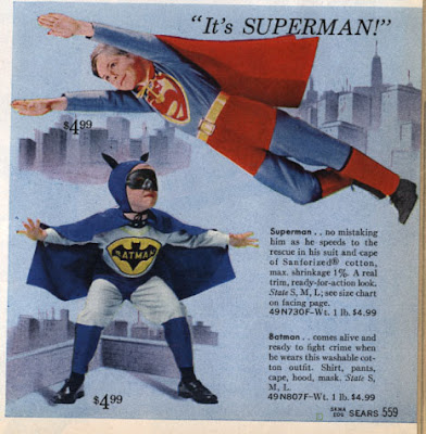 Vintage Superman and Batman Costumes