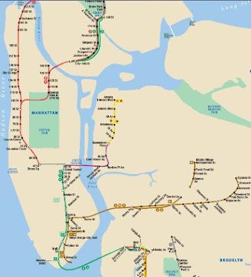new york city subway. new york city map. new york