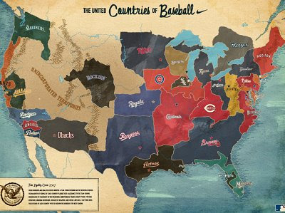 The Map Scroll: The Baseball Map of America