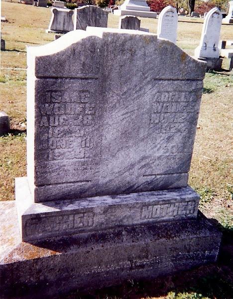 Issac Tucker Wolfe & Adellia Ann Tucker Wolfe's stone