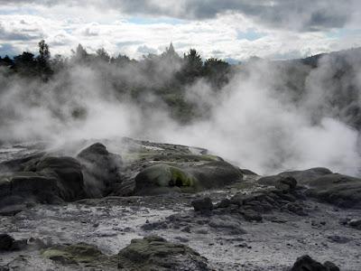 Fumaroles in action