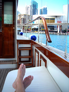 relaxing in the Sydney Harbour