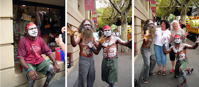 aboriginal street performers and the tourist geeks