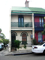 typical funky rowhouse in Newtown