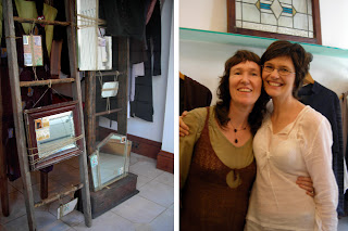 Fairbairn shop window. Ruth (left) with a favorite customer